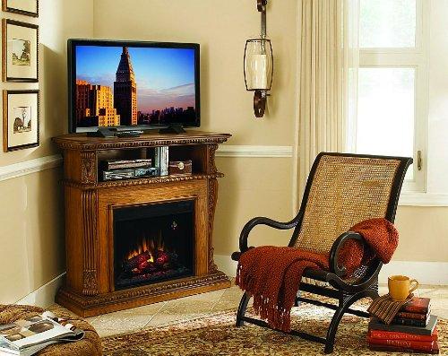 Classicflame Corinth Infrared Electric Fireplace Media Console In Oak - 23De1447-O107