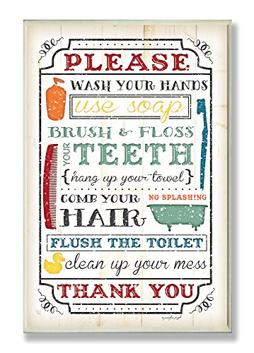 Trend Bathroom Patent Wall Art Prints Wash Your Hands Sign