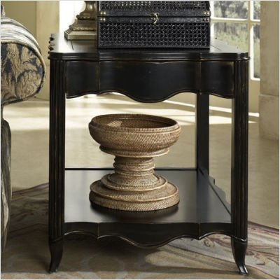 Cheap Hammary T1056221-22 Avignon Rectangular Drawer End Table in Satin Black (T1056221-22)