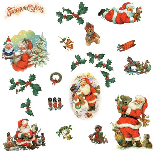 RoomMates RMK1112SCS Santa Claus Peel & Stick Wall Decals