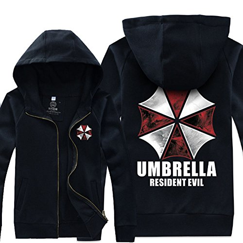 Andonger Costume Resident Evil Umbrella Corporation Giacca nera ombrello M