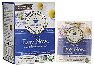 Traditional Medicinals Organic Fair Trade Certified Easy Now Herbal Wrapped Tea Bags, 16 ct from Traditional Medicinals