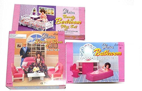Gloria:Barbie Doll House Furniture  (Set Of 3)  Living Room,