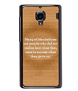 Printvisa 2D Printed Quotes Designer back case cover for Xiaomi Redmi 1S - D4551
