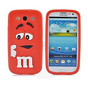 New Style M&M's Chocolate Cartoon Design Soft Silicon Rubber Material Cover Phone Case For  Samsung Galaxy S3 I9300