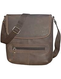 Style98 Brown Genuine Leather Travel Messenger & Shoulder Bag For Men,Boys,Girls & Women