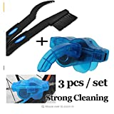 Bicycle Chain Cleaner Tool Kits Bike Scrubber Wash Cycling Cleaning Machine&Clean Brush Set