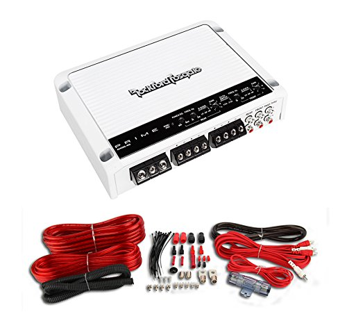 Rockford Fosgate M400-4D 400W 4-Channel Full-Range Class-D Amplifier + Amp Kit