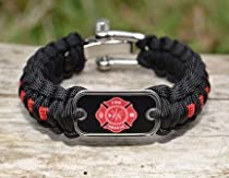 Paracord Survival Bracelet by Survival straps FIRE dogtag Edition Medium