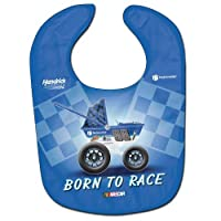 Dale Earnhardt Jr Blue Born to Race NASCAR All Pro Baby Bib, Item #A2202915