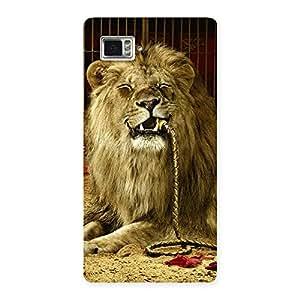 Dude Lion Multicolor Back Case Cover for Vibe Z2 Pro K920