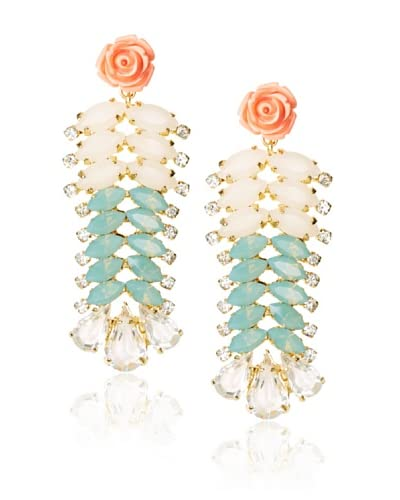 Joanna Laura Constantine Le Jardin Statement Flower Earrings
