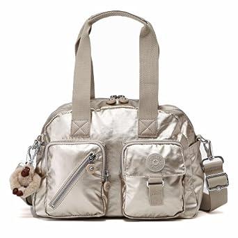 Kipling Luggage Defea Metallic Medium Handbag, Silver Beige, One Size