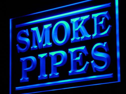 Adv Pro J076-B Smoke Pipes Shop Display Adv Led Light Sign