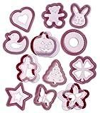 Progressive International 24 Piece Cookie Cutter and Stencil Set