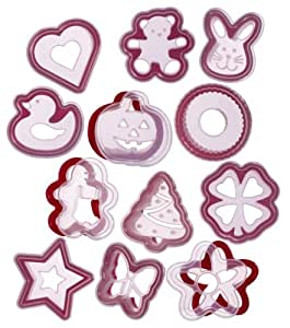 Progressive International 24-Piece Cookie Cutter and Stencil Set