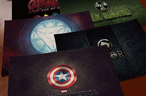 New Captain America Short Carpet Mats Cover Non-Slip Machine Washable Outdoor Indoor Bathroom Kitchen Decor Rug ,