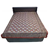 "60X90"" Bagru Print Block Print Double Bed Spread- Double Bed Cover- Double Bed Sheet - Online Shopping For Home... - B00G8V8MFA"