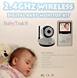"Best View Handheld Wireless 2.4 GHz Color Video Digital Baby Monitor with 2.4"" Screen, IR Night Vision, 2 Way Talking, Zoom, and 360° Rotation"