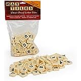 """Scrabble Tiles - Full Set of 100 """"Cheat Proof"""" Plastic Pro Grade Tiles (White) - Never Use Wooden Tiles Again"""