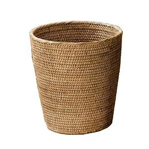 decor walther basket papierkorb rattan dunkel k che haushalt. Black Bedroom Furniture Sets. Home Design Ideas
