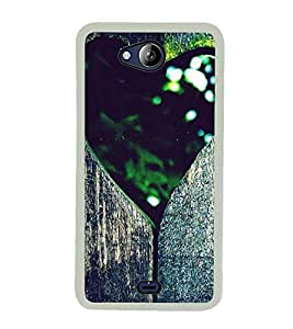 Heart 2D Hard Polycarbonate Designer Back Case Cover for Micromax Canvas Play Q355