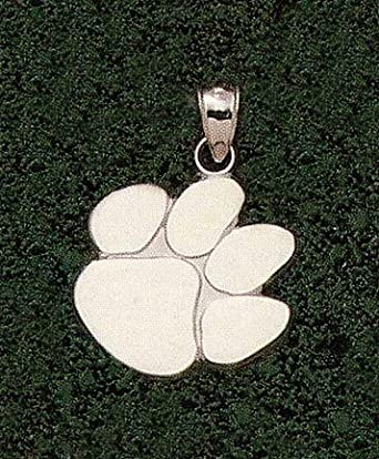 Clemson Tigers Polished Paw 1 Pendant - 14KT Gold Jewelry by Logo Art