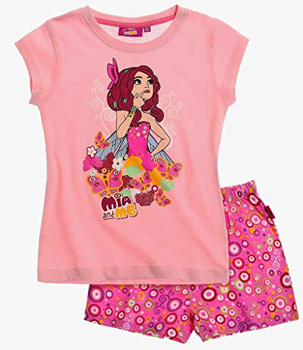 Mia and Me Shorty Kollektion 2015 Pyjama 98 104 110 116 122 128 134 140 146 152 Schlafanzug Shortie Kurz Mädchen Neu Top Rosa-Darkrosa (98 - 104)