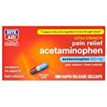 Rite Aid Extra Strength Acetaminophen, Rapid Release Gelcaps 100 ct.