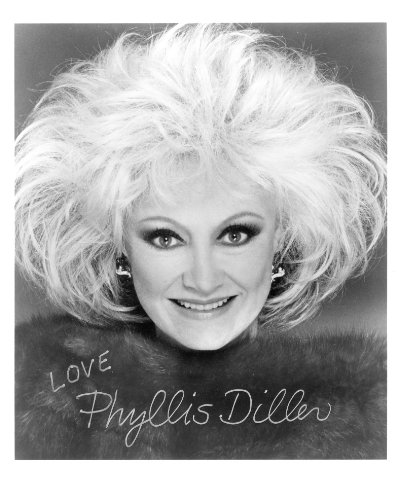 Phillys Diller 8X10 Signed Photo Uacc
