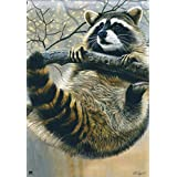 Raccoon Fall Wildlife Garden Flag