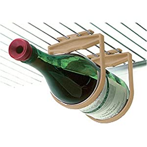 Holdups Refrigerator 1 Bottle Wine Rack Red