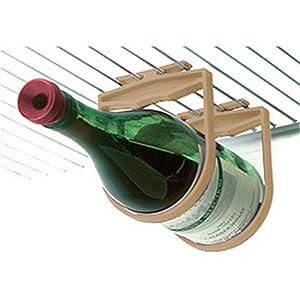 Holdups Refrigerator 1 Bottle Wine Rack Red