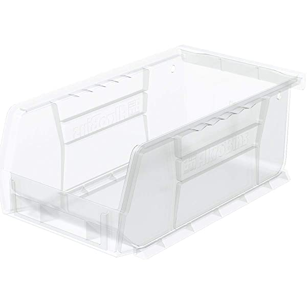 Akro-Mils 30220 Plastic Storage Stacking AkroBin, 7-Inch by 4-Inch by 3-Inch, Clear, Case of 24 (Color: Clear, Tamaño: 7-Inch by 4-Inch by 3-Inch)