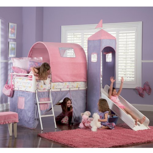 Powell princess castle twin tent bunk bed with slide best deals toys Best deal on twin mattress