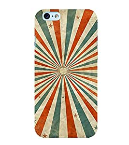 MULTICOLOURED SUN RAYS LINES PATTERN 3D Hard Polycarbonate Designer Back Case Cover for Apple iPhone SE