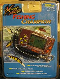 Buy fishing champion electronic handheld lcd game tiger for Electronic fishing game