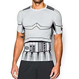 UNDER ARMOUR Alter Ego Storm Trooper Compression SS Men\'s Tee, White/Black, XL