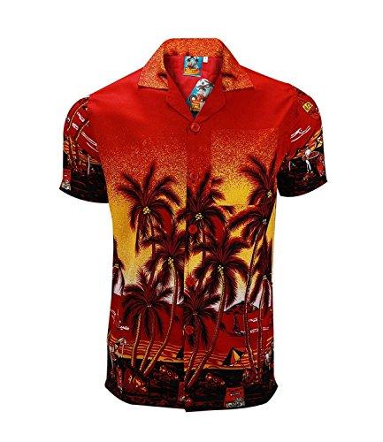 Herren/Jungen Kurzarm Hemd TrueFace Hawaii Beach Summer, Gr. S-5XL großzügige Passform