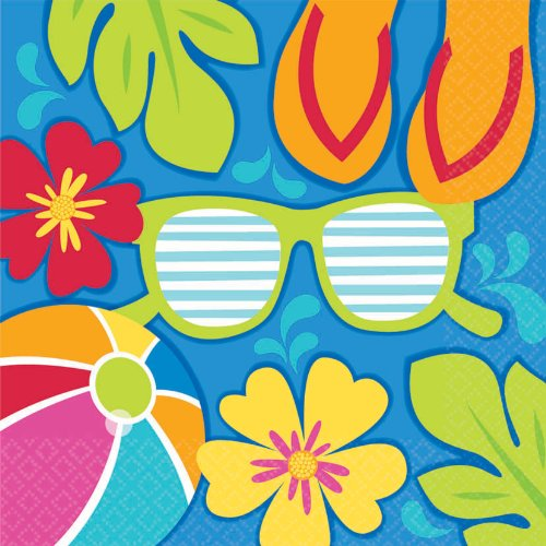 Amscan Summer Splash Luau Party Lunch Napkins