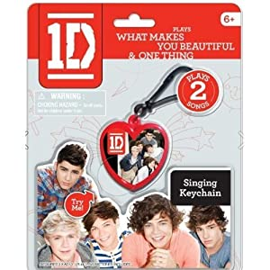 "1D One Direction Singing Keychain -Play 2 Songs ""What Makes You Beautiful"" & ""One Thing"" by the Wish Factory"