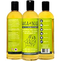 Lola And Max Organic, All Natural Pet Shampoo, Non-toxic, Hypoallergenic Care For Itchy, Sensitive Dogs And Cats...