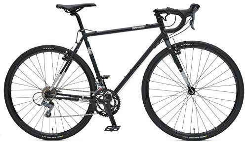 Retrospec Bicycles 16AMOKv2111154 Cyclo-Cross Sixteen Speed Bike with Chromoly Frame, Matte Black/Silver, 54-Centimeter/Medium