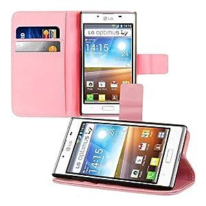 kwmobile® Elegante Wallet Kunstledertasche für das LG Optimus L7 P700 mit Magnetverschluss und Ständerfunktion in Pink