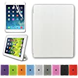 Besdata Ultra Thin Magnetic Smart Cover & Back Case for Apple iPad 2/3/4 + Screen Protector + Cleaning Cloth + Stylus - White - PT2601
