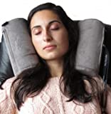 SkySiesta - (Grey) The Best Travel Pillow on the Market! (Patent Pending). New With Adjustable Eye Mask!
