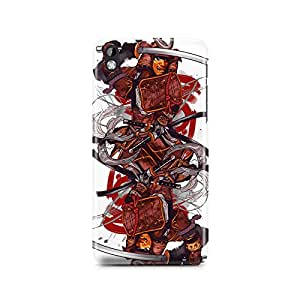 Motivatebox - HTC Desire 816 Back Cover - Samurai Devil Polycarbonate 3D Hard case protective back cover. Premium Quality designer Printed 3D Matte finish hard case back cover.