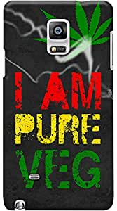 Kasemantra I Am Pure Veg Case For Samsung Galaxy Note 4