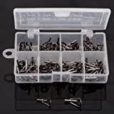 80 X Fishing Rod Tips Tops Parts Stainless Steel DIY Set Kits 8 Sizes