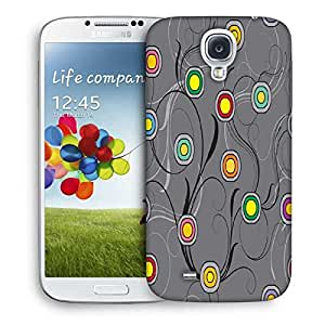 Snoogg Colorful Spots Grey Patern Designer Protective Phone Back Case Cover For Samsung Galaxy S4